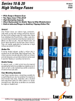 High Voltage Fuses Series 10 and 20