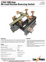 No Load Vacuum Reversing Switch