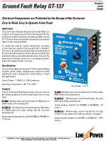 Ground Fault Relay GT137