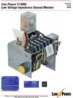 Low Voltage Impedence Ground Monitor