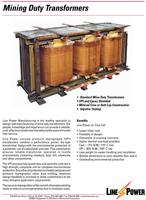 Line Power Mining Duty Transformers