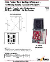 Series 67 Low Voltage Coupler 1