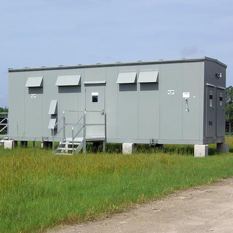 Custom engineered inverter house for solar field application