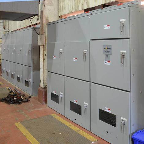 Custom engineered metal enclosed switchgear 470